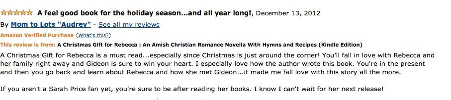 Sarah Price Book Review