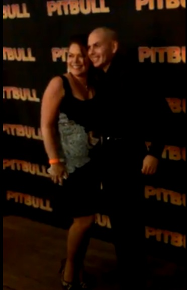 Sarah Price and Pitbull