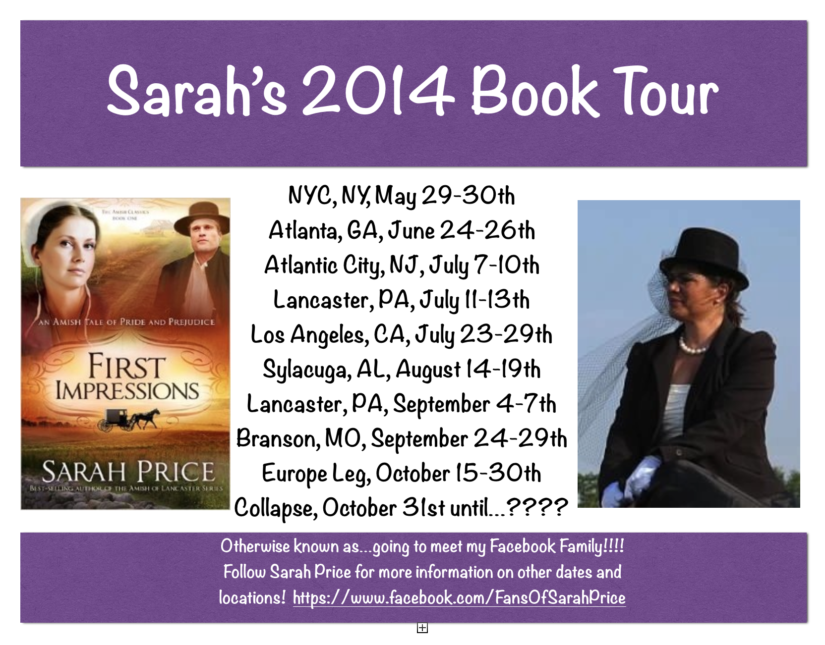 My Book Tour Dates for 2014